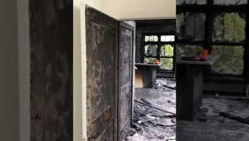 inside a condominium after a fire